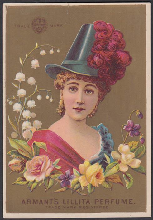 Armant's Lillita Perfume trade card 1880s Rice Brothers & Tiffany NYC