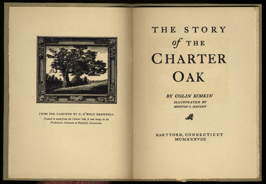 Colin Simkin: The Story of the Charter Oak Hartford CT 1938 booklet