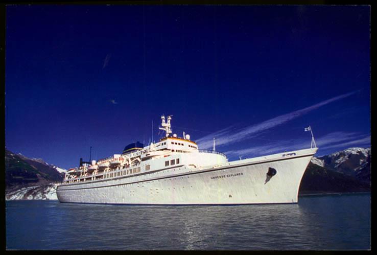 World Explorer Cruises S S Universe Explorer cruise ship jumbo postcard 2002