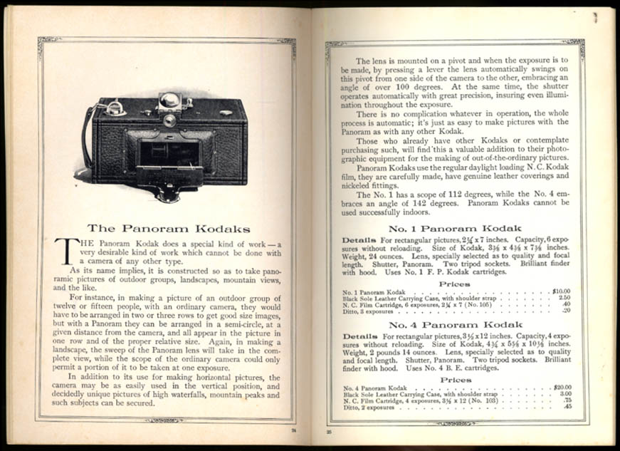 Kodak Cameras & Supplies 1915 Catalog 1972 facsimile reprint