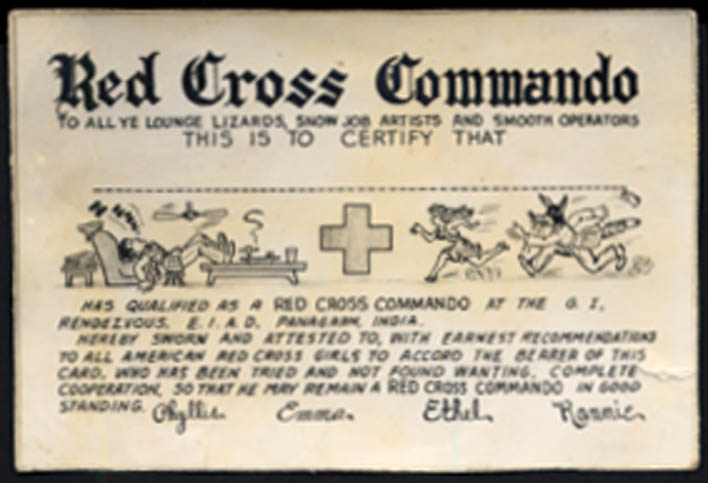 Image for Red Cross Command Commando Membership Card Panagarh India undated unmarked