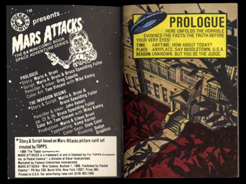 Image for Pocket Comics Mars Attacks #1 1988