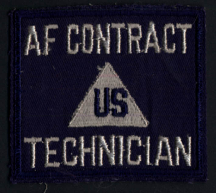 "Image for US Air Force Contract Technician cloth patch 3 1/4 x 2 3/4"" World War II-era"