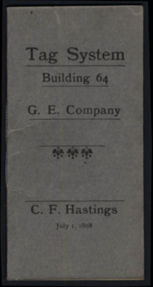 Image for General Electric Building 64 Tag System instruction booklet 1908