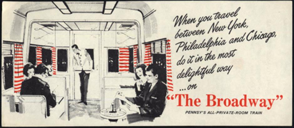 Image for Pennsylvania Railrad The Broadway advertising flyer 1966