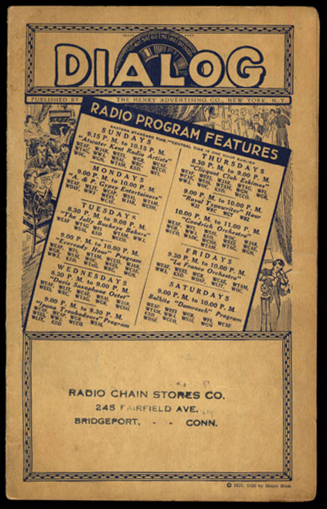 Image for Dialog Radio Station Checklist 1926 Coast-to-Coast listing of all stations