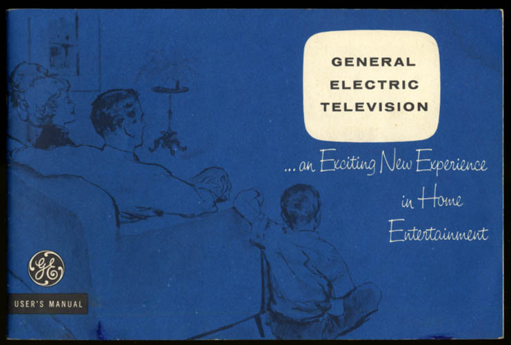 """Image for General Electric 19"""" Celebrity Portable B&W Television Users Manual 1961"""