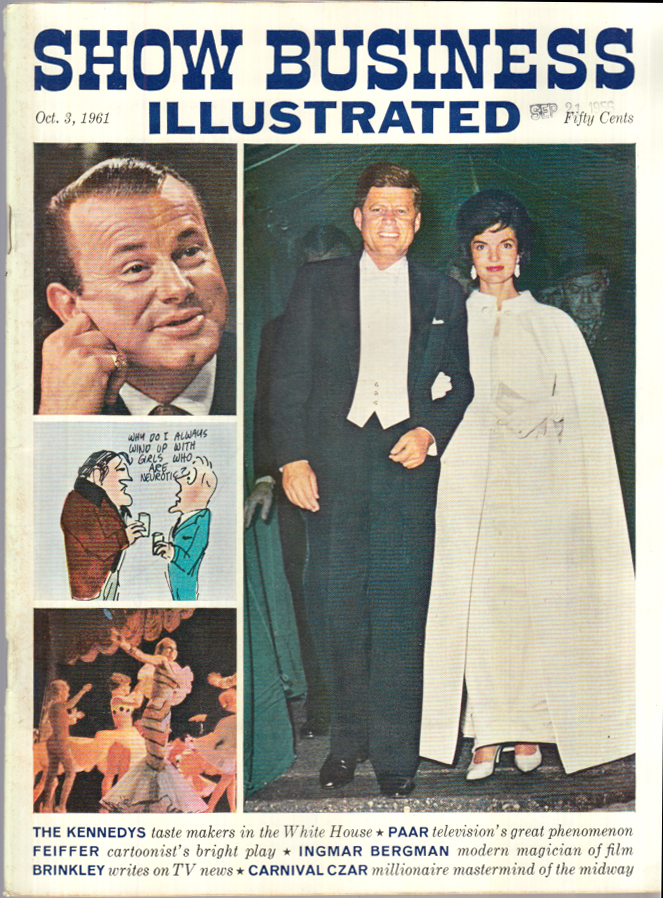 SHOW BUSINESS ILLUSTRATED 10/3 1961 Kennedys Jack Paar Feiffer Ingmar Bergman