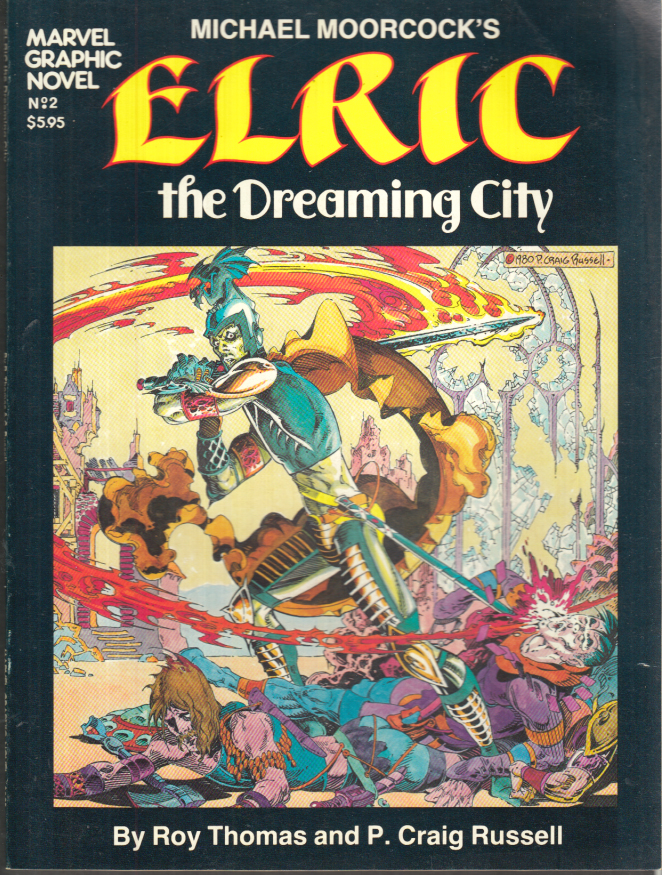 Image for Marvel Graphic Novel #2 Michael Moorcock's ELRIC The Dreaming City 1st ed 1982