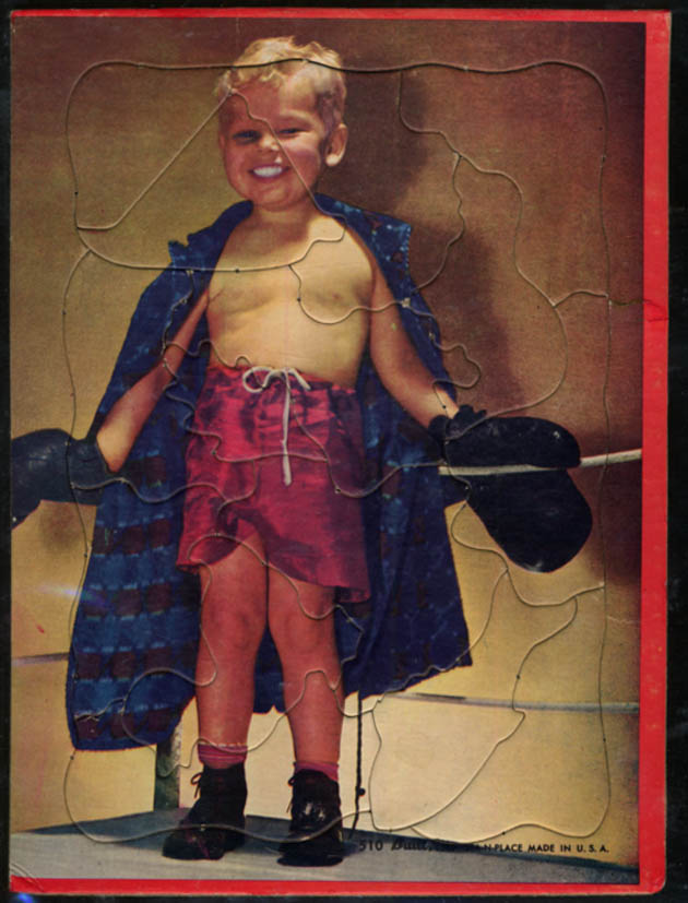 Image for The Boy Boxer cardboard jigsaw puzzle ca 1950s