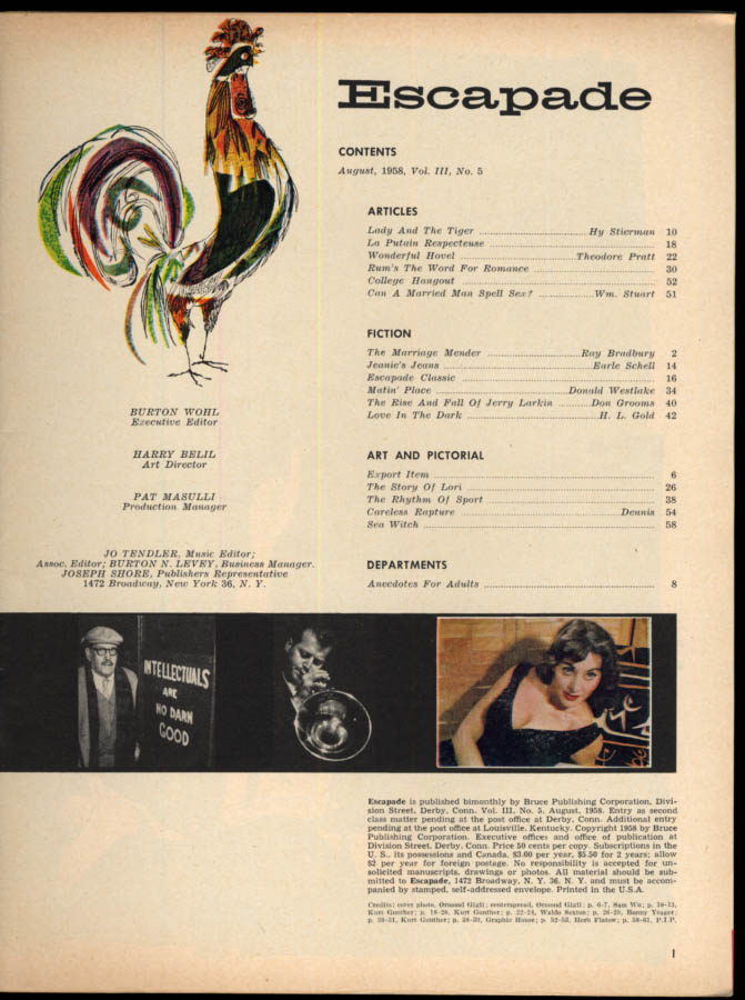 ESCAPADE 8 1958 Ray Bradbury Donald Westlake Lori Shea by Yeager Sandra Edwards