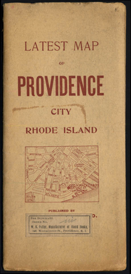 Image for Geo H Walker Latest Map of Providence Rhode Island 1903