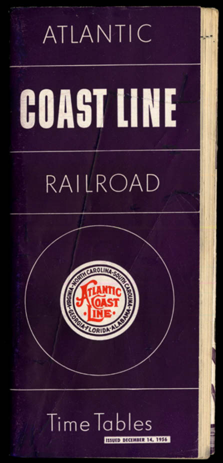 Image for Atlantic Coast Line Railroad Timetables 12/14 1956