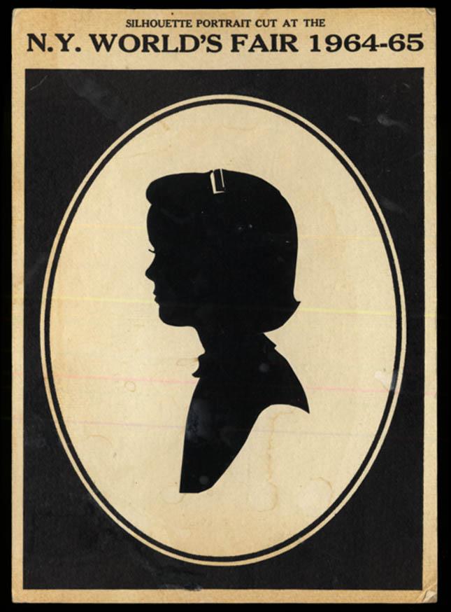 Image for New York World's Fair Silhouette Portrait: Little girl 1964-5