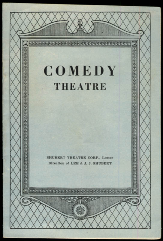 Comedy Theatre program 1930 Rith Draper in Original Character Sketches