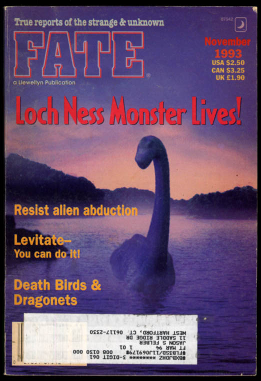 Image for FATE 11 1993 Loch Ness Monster; Death Birds & Dragonets; Resist alien abduction