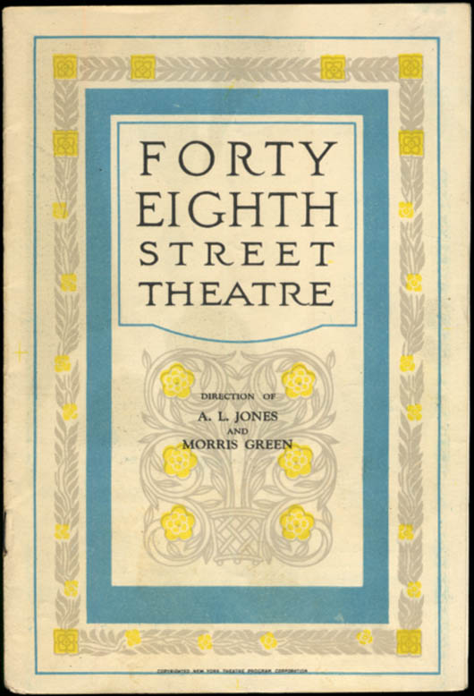 Forty-Eighth Street Theatre program Phillip Barry's Cock Robin 1928