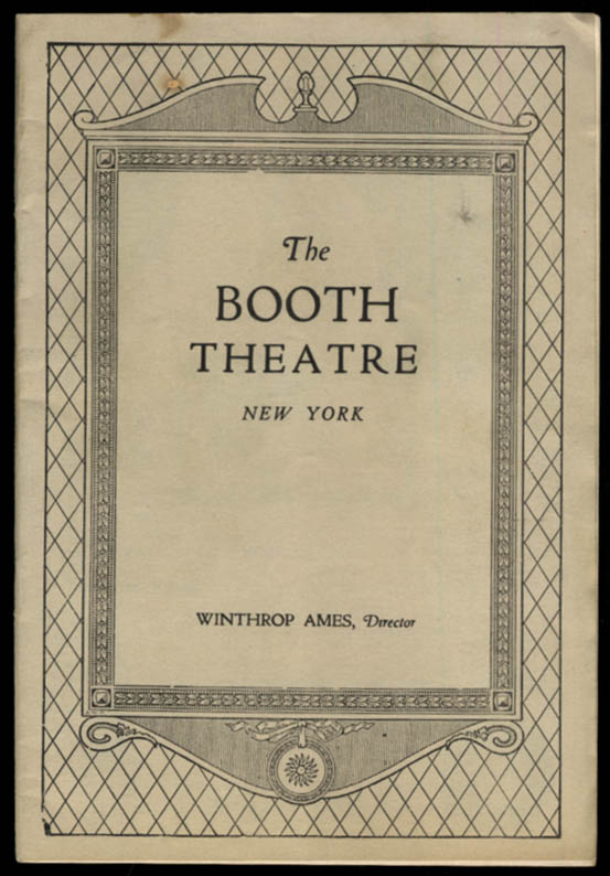 Booth Theatre program Grand Street Follies of 1928 James Cagney in 3 roles