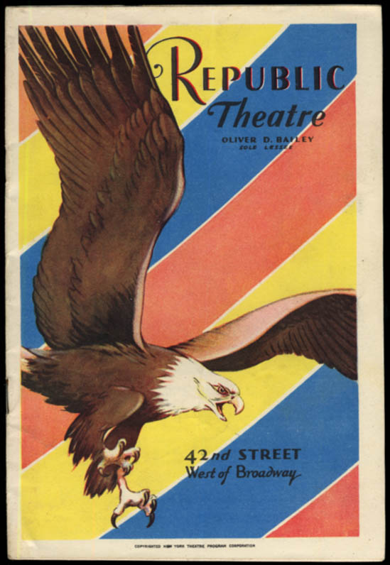 Image for Republic Theatre program Subway Express 1928 Edward Everett Hale III