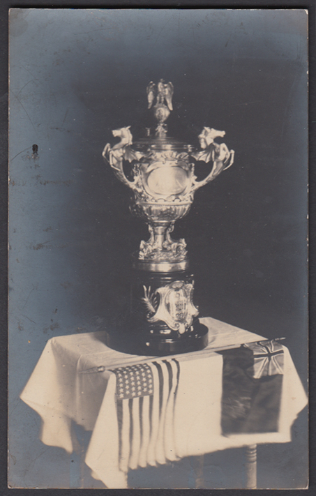 Image for US-Canada Equestrian Silver Trophy RPPC postcard 1907