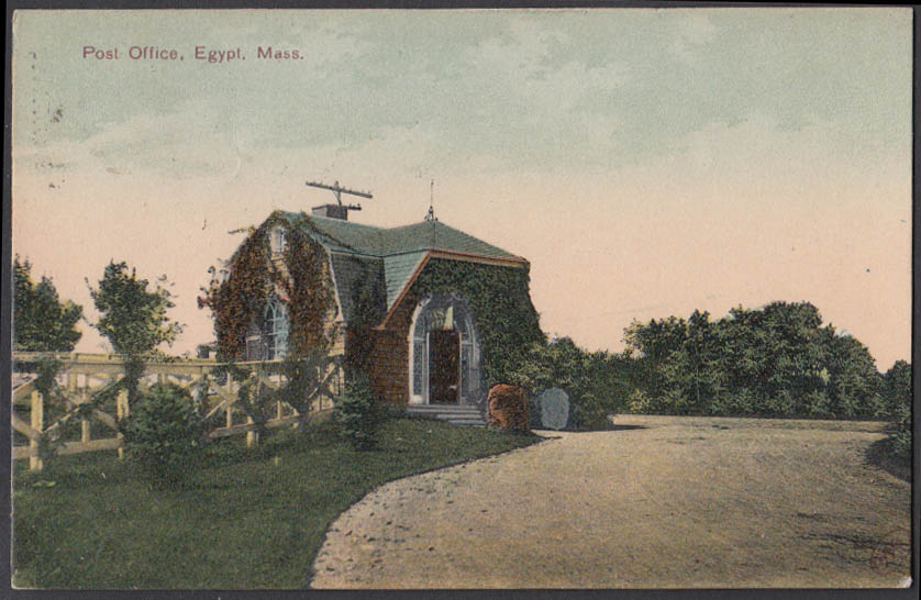 Image for United States Post Office Egypt MA postcard ca 1910