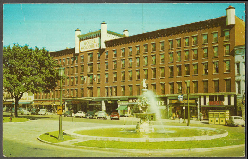 Image for Hotel Woodruff at Watertown NY postcard 1950s