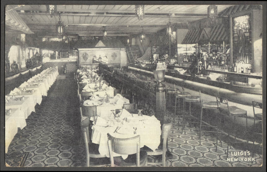 Image for Luigi's Restaurant 6th Ave between 9th & 10th New York City postcard 1940s