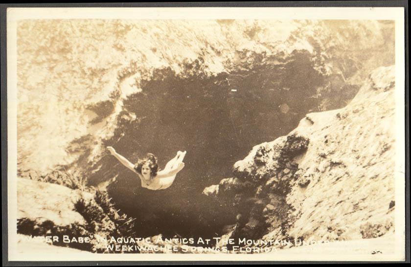 Image for Weekiwachee Springs FL Water Babe underwater RPPC Lagerberg 1950s