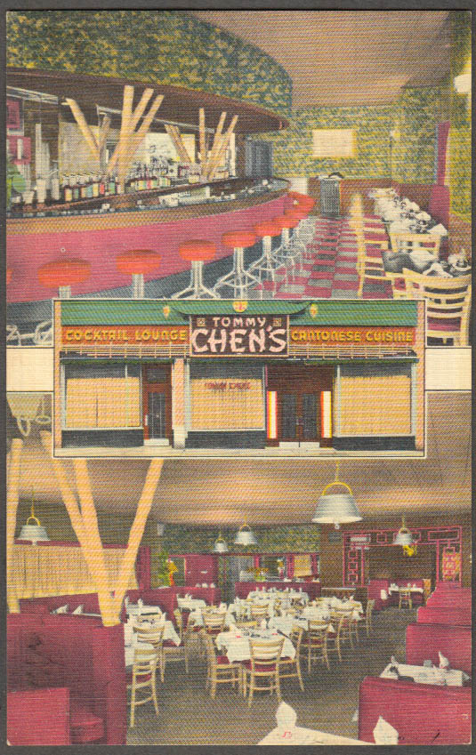 Image for Tommy Chen's Chinese Restaurant 230 Main White Plains NY postcard 1940s