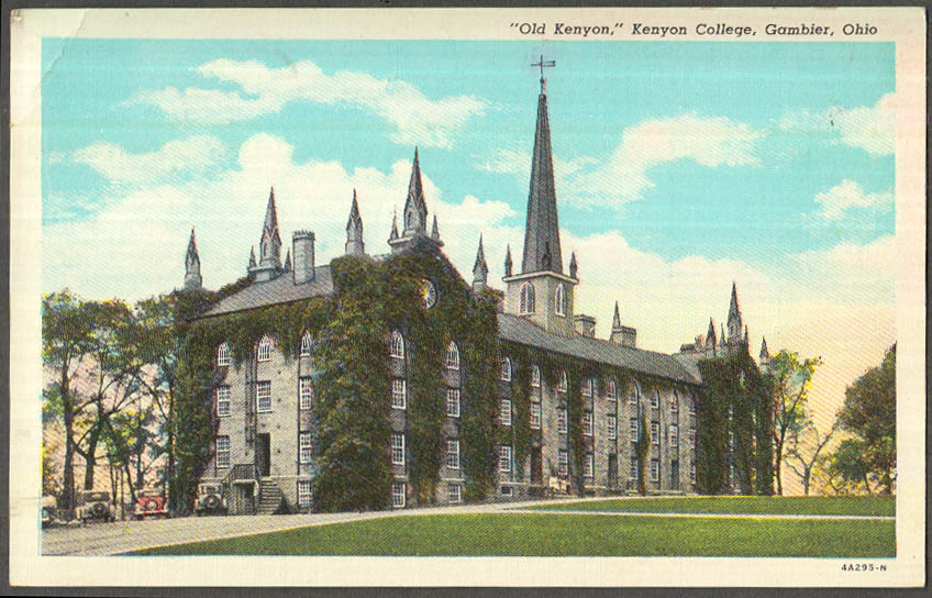 Image for Old Kenyon Building Kenyon College Gambier OH postcard ca 1930s