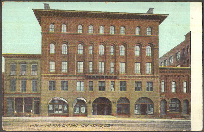 Image for View of the New City Hall at New Britain CT postcard ca 1910