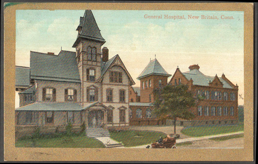 Image for The General Hospital at New Britain CT postcardca 1910