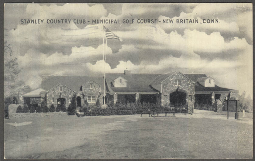 Image for Stanley Country Club Municipal Golf Course New Britain CT postcard 1936