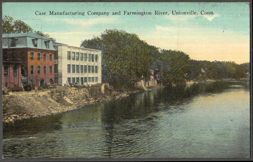 Image for Case Manufacturing & Farmington River Unionville CT postcard ca 1910