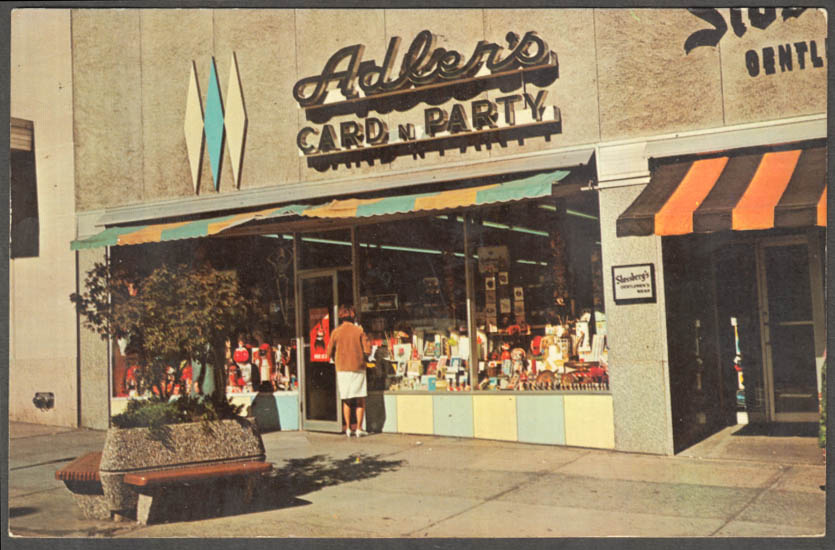Image for Adler's Carn n Party Shop 62 State Street Hartford CT postcard 1960s