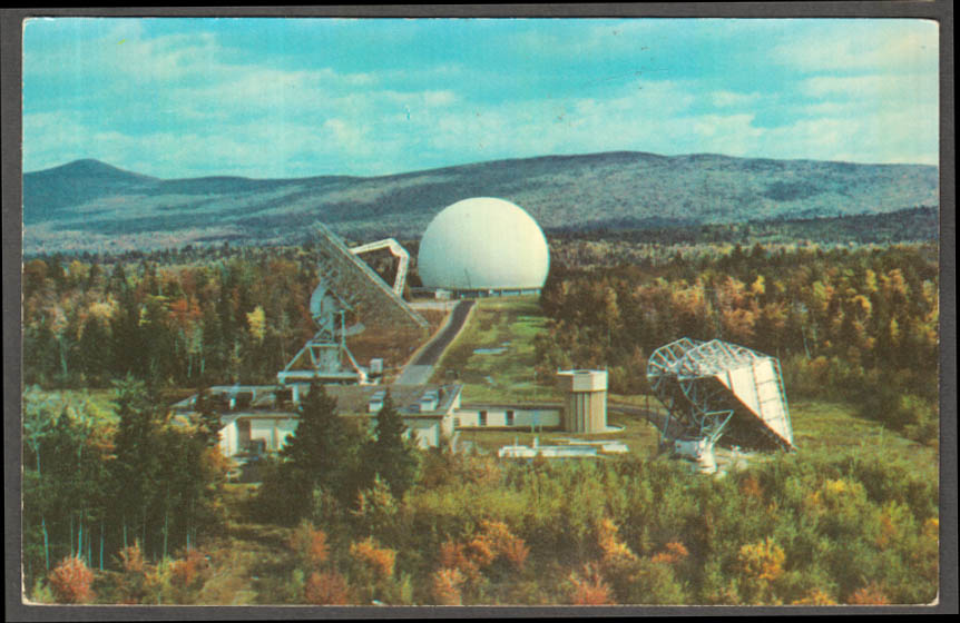 Image for COMSAT Earth Station at Andover ME postcard 1970s