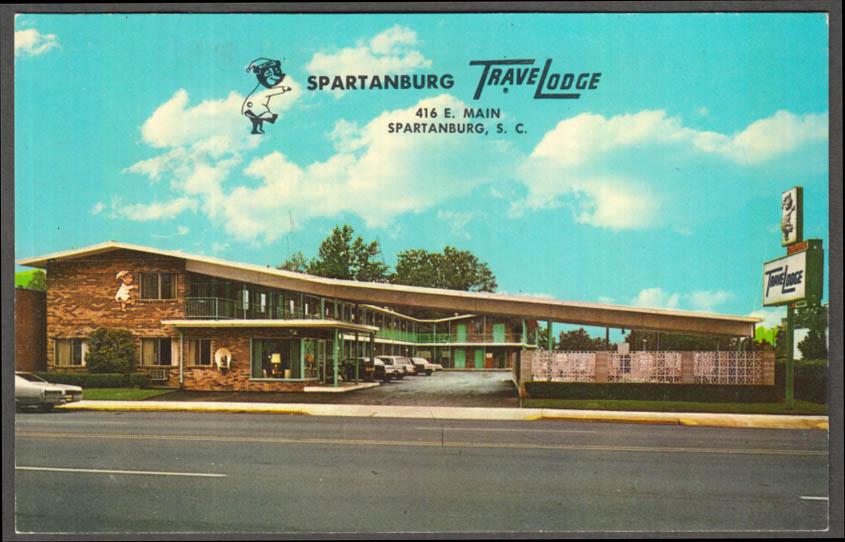 Image for Spartanburg TraveLodge 416 East Main Street SC postcard 1960s