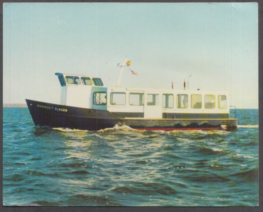 Clam Dredger S S Marinus T Slager jumbo postcard Bay Shore NY 1960s