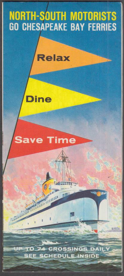 Chesapeake Bay Little Creek Ferries folder & regional map 1961