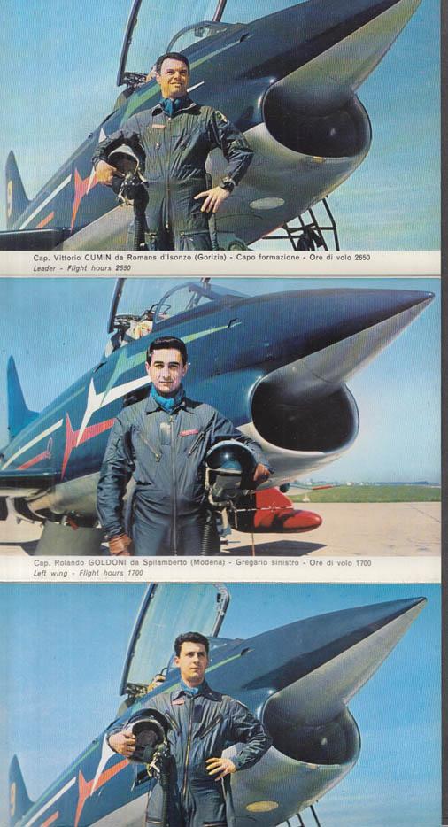Italian Air Force Fiat G 91 National Aerobatic Team Tricolor Arrows folder 1970s