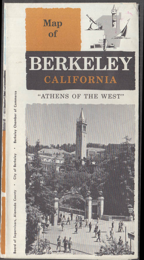 Map of Berkeley California Athens of the West 1960s