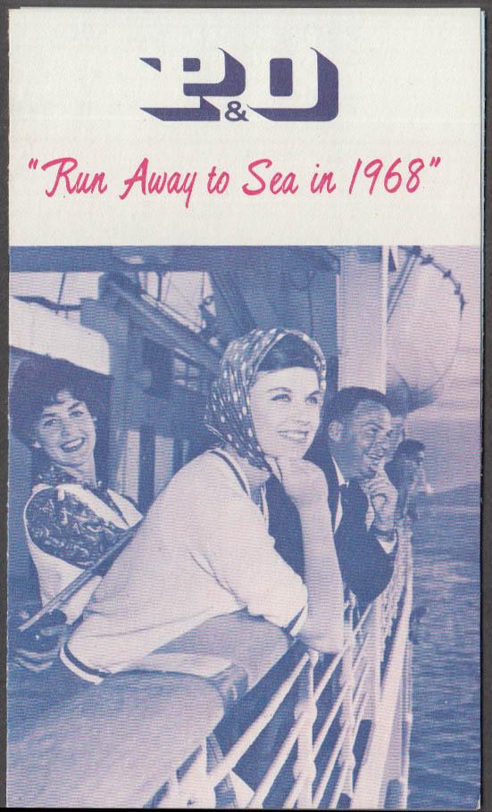P&O Steamship Lines Run Away to Sea in 1968 folder