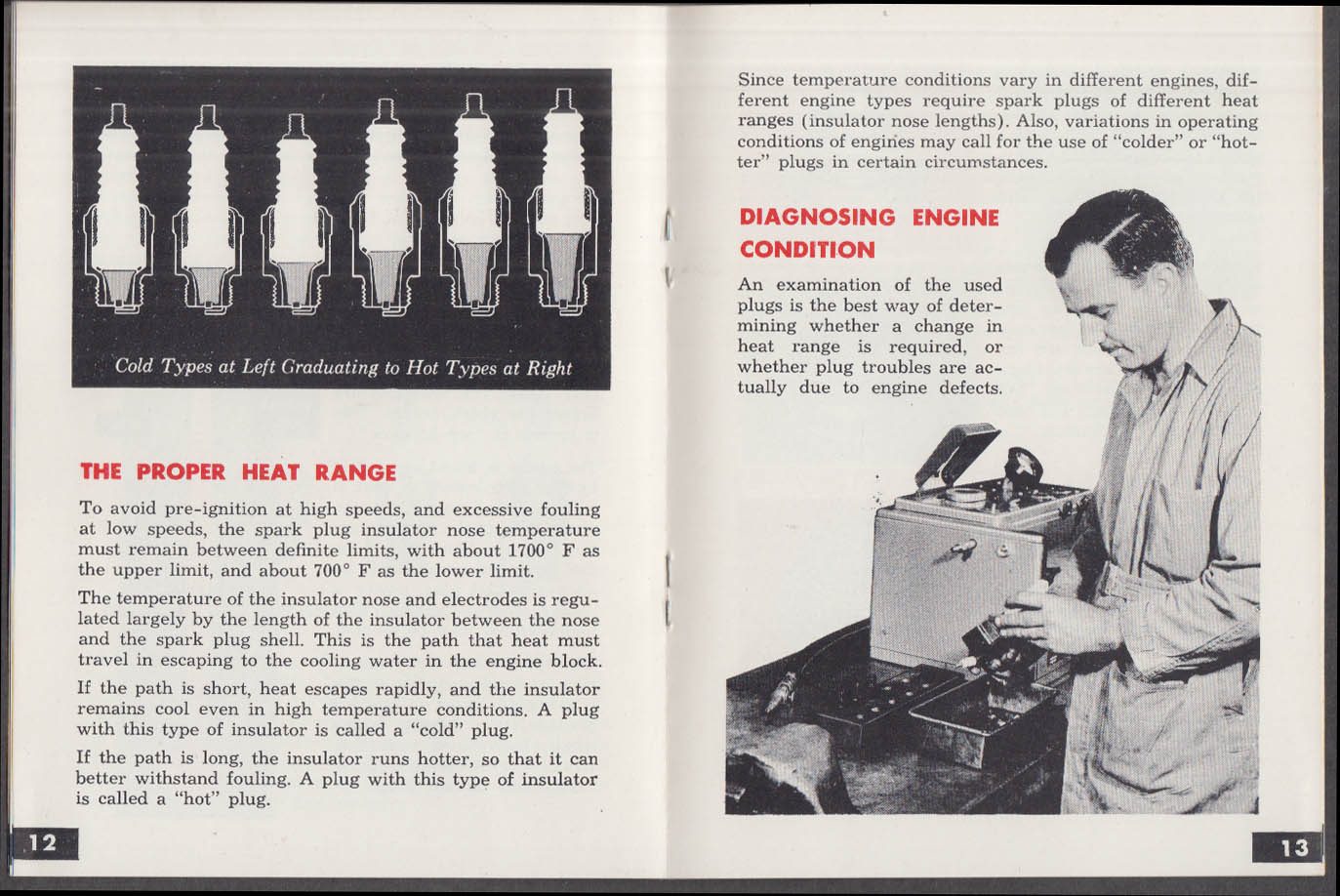 Facts About Champion Spark Plugs booklet 1957 Toledo OH