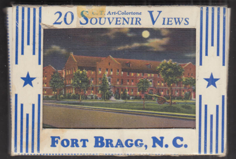 U S Army Fort Bragg North Carolina packet of 20 Souvenir Views 1951
