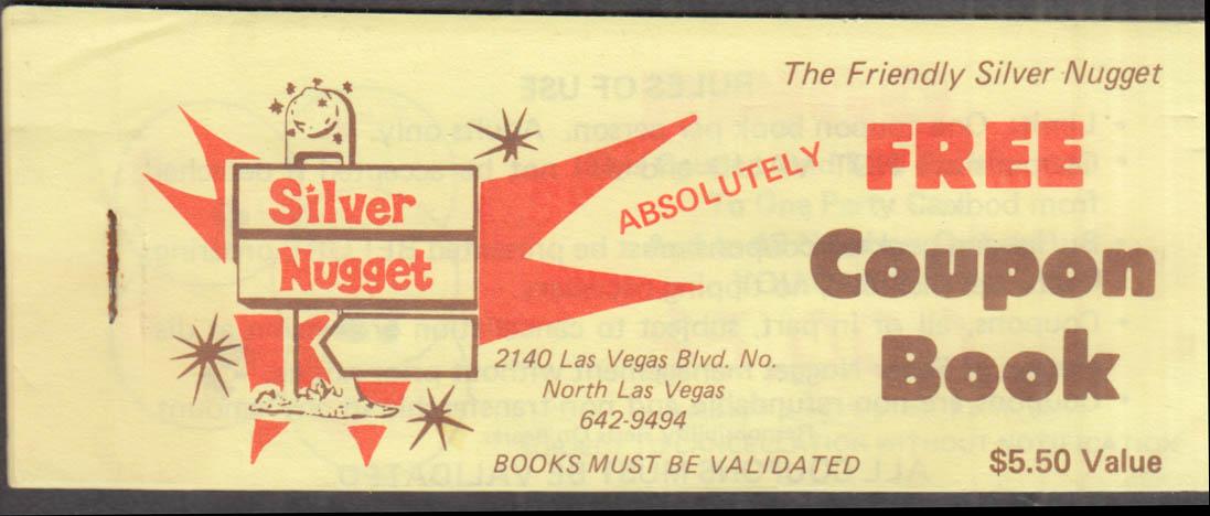 Silver Nugget Casino Free Coupon Book North Las Vegas ca 1970s