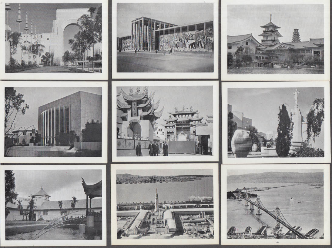 Golden Gate Exposition 15 Picture Card set 1939 In wrapper W M Smith Co
