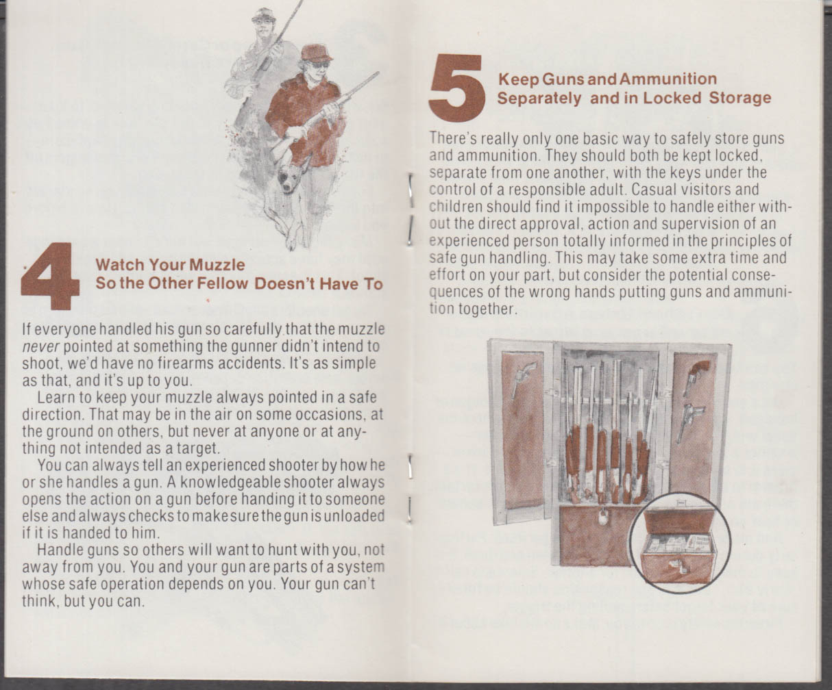Firearms Safety Depends on YOU booklet 1970s Sporting Arms & Ammo Mfgs