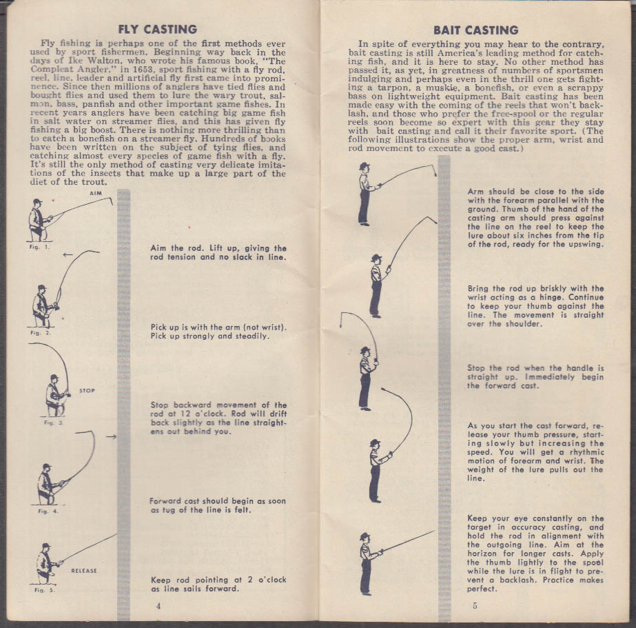Brown-Forman's Fishing Almanac 1953 Early Times Whiskey