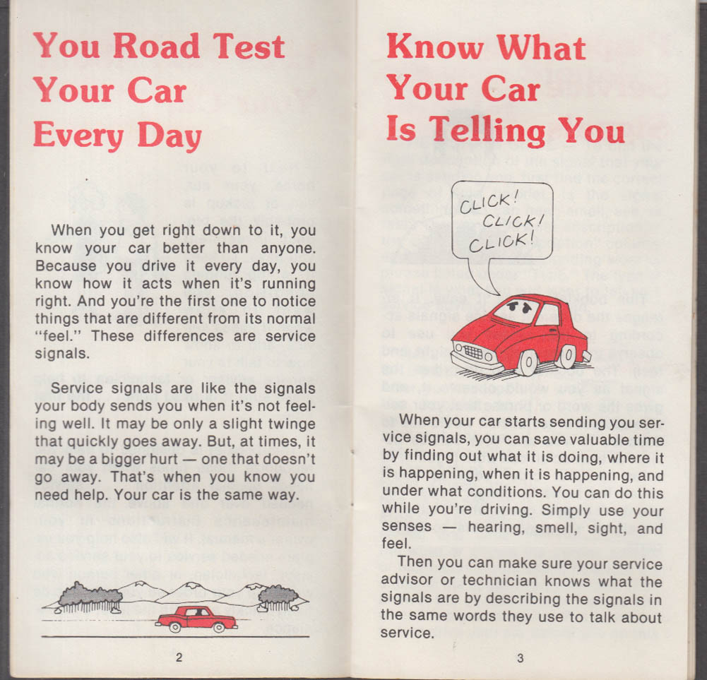 1982 Buick Let's Talk: Service Signals Checklist booklet 8/1982