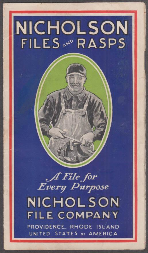 Nicholson Files & Rasps sales folder Providence RI ca 1920s